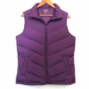 Lands End Down Fill Puffer Vest Purple Size M/T
